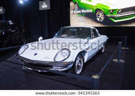 Los Angeles, USA - November 18, 2015: Mazda Cosmo on display during the 2015 Los Angeles Auto Show.