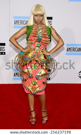 LOS ANGELES, USA - NOVEMBER 21: Nicky Minaj at the 2010 American Music Awards held at the Nokia Theatre L.A. Live in Los Angeles, USA on November 21, 2010. - stock photo