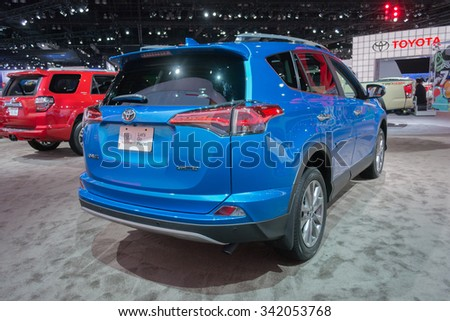 Los Angeles, USA - November 19, 2015: Toyota RAV4 Limited on display during the 2015 Los Angeles Auto Show.