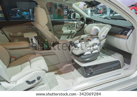Los Angeles, USA - November 19, 2015: XC90 Child Seat Concept on display during the 2015 Los Angeles Auto Show.