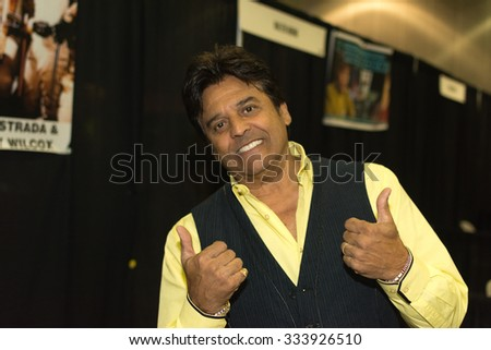 Los Angeles - USA - October 31, 2015: Erik Estrada during Comikaze Expo at the Los Angeles Convention Center.