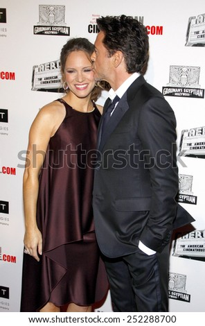 LOS ANGELES, USA - OCTOBER 14: Robert Downey Jr. and Susan Downey at the 25th American Cinematheque Award Honoring Robert Downey Jr. held at the Beverly Hilton hotel on October 14, 2011. - stock photo