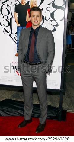 """LOS ANGELES, USA - SEPTEMBER 19: Chris Evans at the Los Angeles Premiere of """"What's Your Number?"""" held at the Westwood Village Theater in Westwood, USA on September 19, 2010. - stock photo"""
