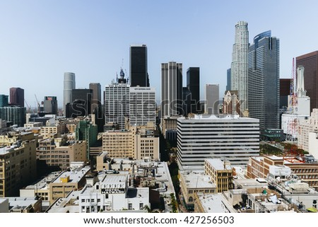 Los Angeles, USA - September 26, 2015: View of Los Angeles city.