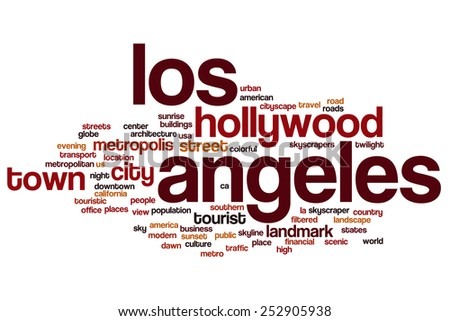 Los Angeles word cloud concept - stock photo