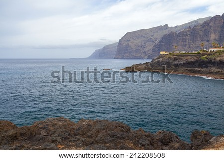 los gigantes coast view in the island of tenerife