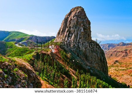 Los Roques(The Rocks), La Gomera, Canary Islands, Spain