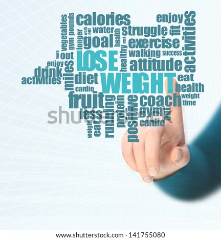lose weight word cloud - stock photo