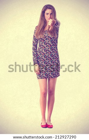 Loser young girl  - stock photo