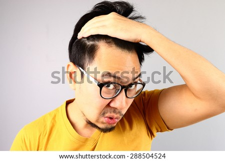 Losing hair problem. - stock photo