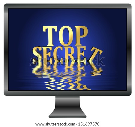 Loss of Top Secrets through data leak. Security concept for confidential information - stock photo