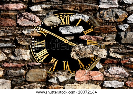 lost clock in the lost world - stock photo