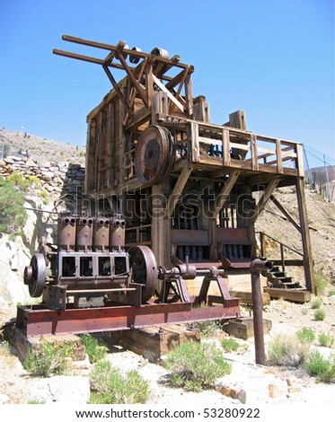 Lost horse gold mine stamp mill in Joshua Tree National Park