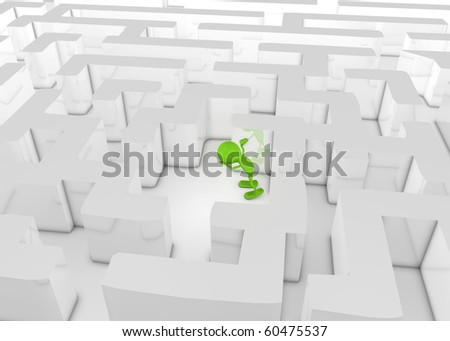 Lost in a Labyrinth - stock photo