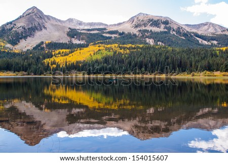 Lost lake in autumn. Colorado.