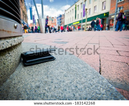 lost wallet - stock photo