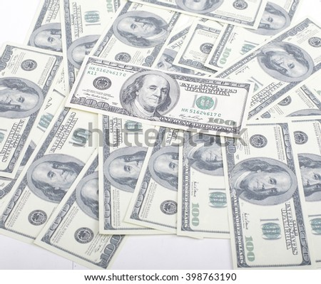 lot fo americans dollars cash background, diverse money worldwide - stock photo