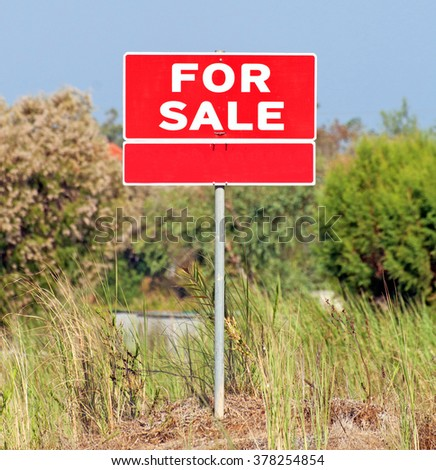 Lot for sale - real estate concept  - stock photo