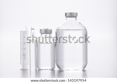 lot of ampules - stock photo