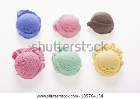 lot of ice cream scoop - stock photo