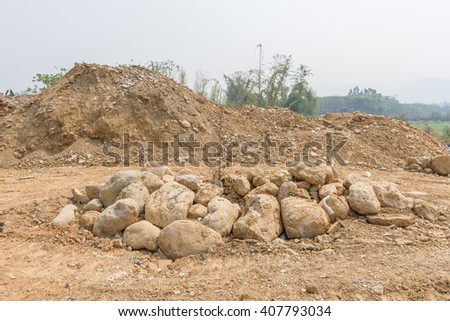 Lot of mound and rock  - stock photo