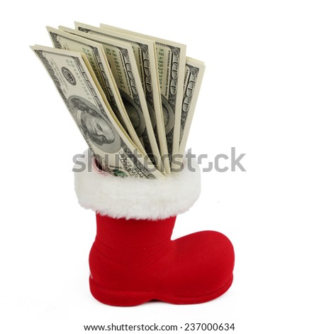 Lot of one hundred dollars - stock photo