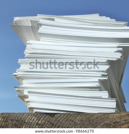 lot of paper - stock photo
