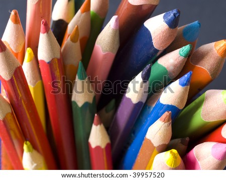 lot of pencils