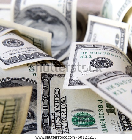 lot of U.S. dollars - stock photo