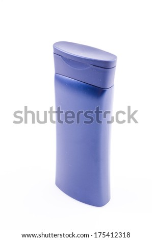 Lotion bottle on isolated white background