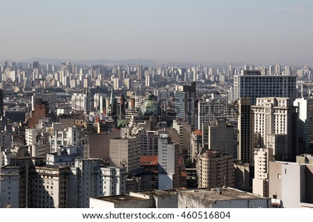 Lots of buildings from downtown area of Sao Paulo, Brazil.