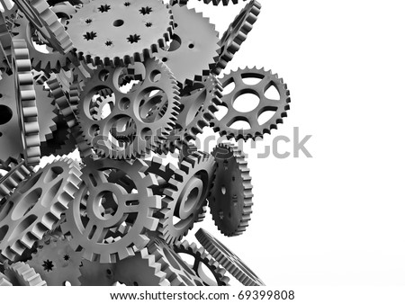 lots of cogs - stock photo