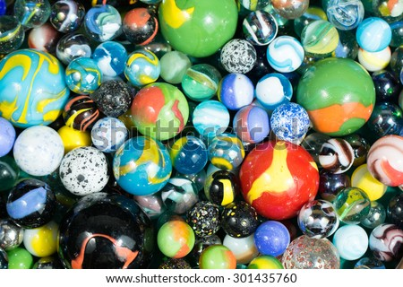 Lots of Colorful Marble Balls background