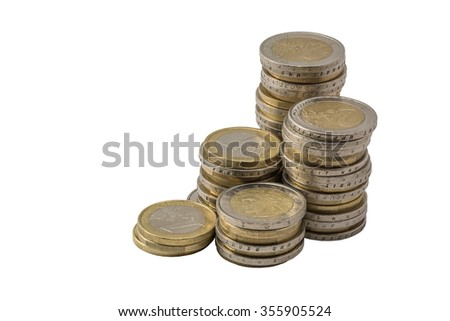lots of euro coins free cutted