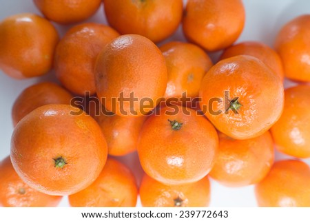 lots of fresh oranges