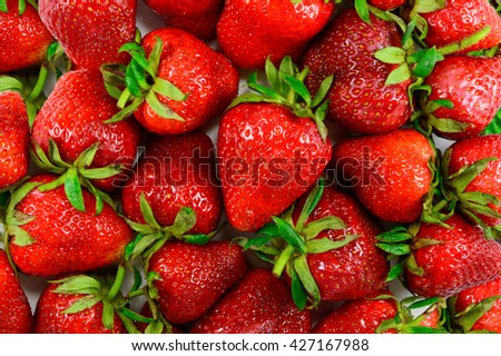 Lots of juicy strawberries. Background texture design element