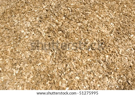 Lots of large wood chips. - stock photo