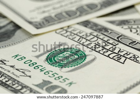 lots of one hundred dollar banknotes, money background