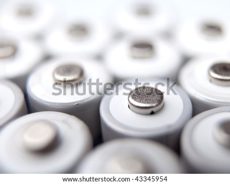 lots of rechargeable batteries - stock photo