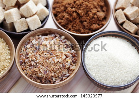 lots of various brown sugar - food and drink