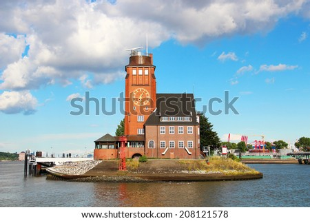 Lotsenhaus Seemannshoft (Pilot house) in the port of Hamburg, Germany  - stock photo