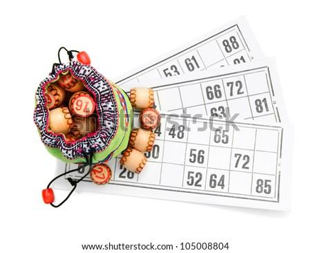 Lotto. On a white background. - stock photo