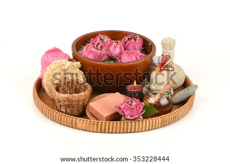 Lotus Flower and honey Soap, handmade soaps spa flower of Thailand. Restores natural moisture to the skin.