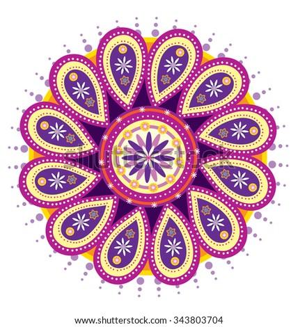 Lotus Flower Pattern - stock photo
