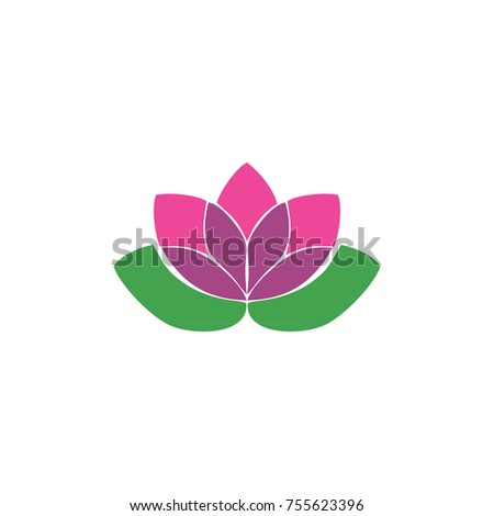 Lotus Flower Template Logo Stock Illustration 755623396 - Shutterstock