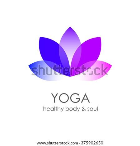 Lotus Flower Yoga Symbol Template Logo Stock Vector 374817187 ...