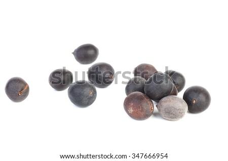 Lotus seeds  isolated on white background
