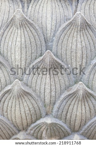 Lotus Stucco background - stock photo
