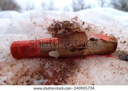 loud firecrackers - stock photo
