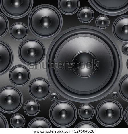 Loud Speakers - stock photo